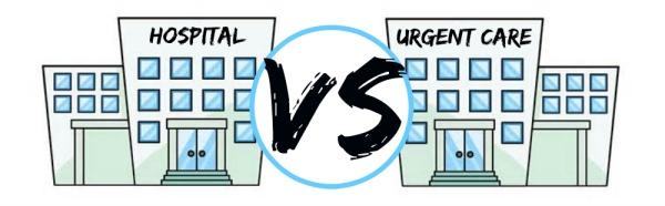 urgent care vs hospital